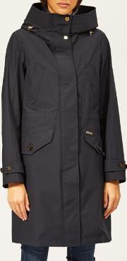 Women's Waterproof Mac With Hood And Detachable Gilet