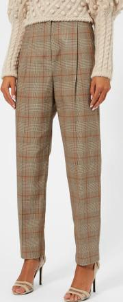 Women's Unbridled Paperbag Pants Tan Check