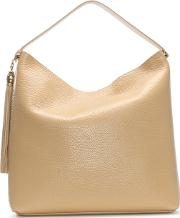 Pantera Oh My Gold Nude Leather Hobo Bag