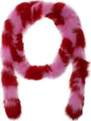 Lacey Red & Pink Fur Boa