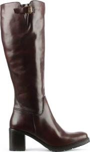 Brown Leather Knee  Boot