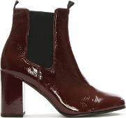 Mocomber Burgundy Patent Chelsea Boot
