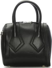 Melliexes Black Leather Mini Tote Bag