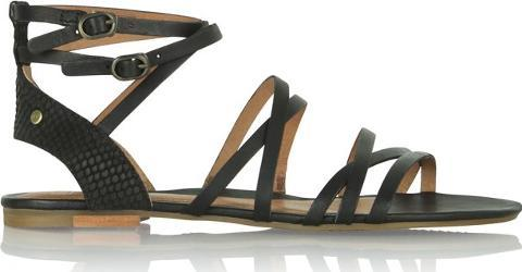 Devie Mar Black Leather Strappy Sandal
