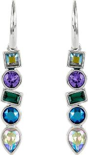 Multi Shape Drop Earring Created With Swarovski Crystals