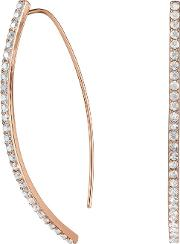 Pave Curve Drop Earring Created With Swarovski Crystals