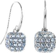 Pave Square Drop Earring Created With Swarovski Crystals