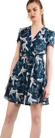 Turquoise Printed Dress