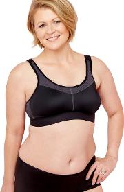 Black power Non Wired Non Padded Sports Bra