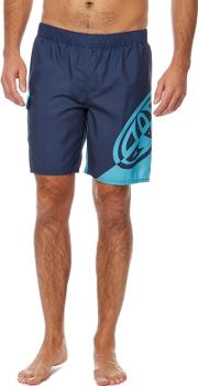 Navy balwa Logo Print Swim Shorts