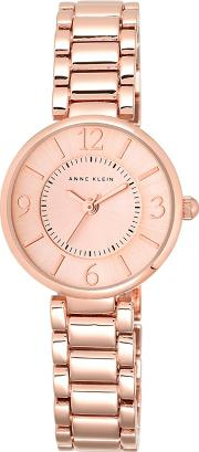 Ladies Rose Gold Analogue Bracelet Watch Akn1870rgrg