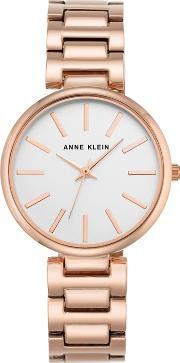 Womens Watch With Rose Gold Case And Silver Bracelet