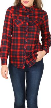 Red Checked Jersey Shirt