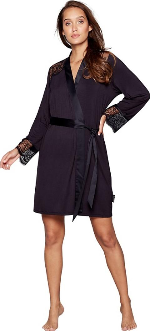 B By Ted Baker Black Lace Dressing Gown Obsessory