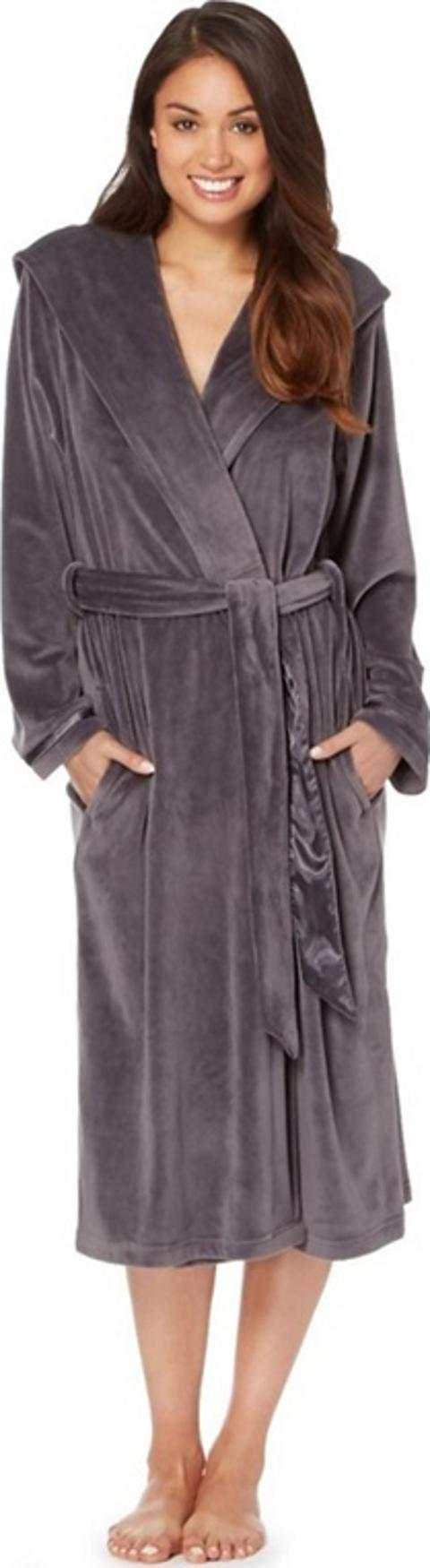 B By Ted Baker Grey Hooded Dressing Gown Obsessory