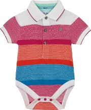Baby Boys Multi Coloured Striped Bodysuit