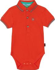 Baby Boys Orange Polo Bodysuit