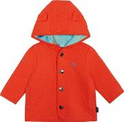 Baby Boys Orange Quilted Sweater