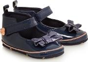 Baby Girls Navy Patent Shoes