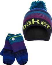 c522185df141 Boys Multi Coloured Ombre Effect Hat And Gloves Set. baker by ted baker