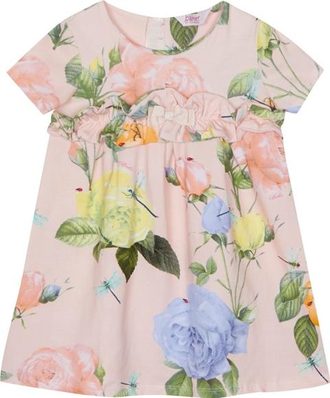 75903d3994eb47 baker by ted baker girls Pink Floral Print Ruffle Dress