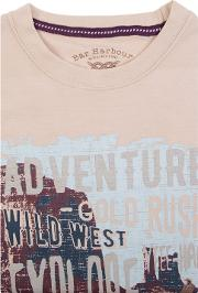 Beige Adventure Print T Shirt
