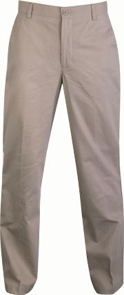 Big And Tall Beige Straight Leg Chino Trousers