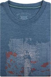 Big And Tall Blue Lighthouse Print T Shirt