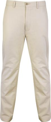 Big And Tall Natural Straight Leg Cotton Chino Trousers Long