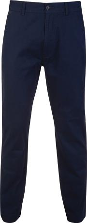 Big And Tall Navy Straight Leg Cotton Chino Trousers Long