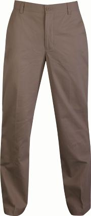 Big And Tall Taupe Straight Leg Long Length Chino Trousers