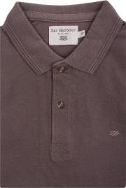 Brown Knot Cotton Polo Shirt
