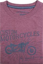 Purple Custom Motorcycles Print T Shirt