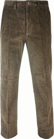 Taupe Straight Leg Corduroy Trousers