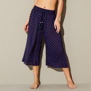 Navy Spot Cropped Trousers
