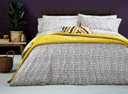Grey Cotton And Percale 180 Thread Count koba Duvet Cover