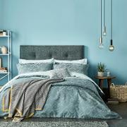Light Blue Polyester And Cotton inca Duvet Cover