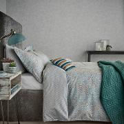 Light Grey Cotton And Polyester 180 Thread Count mika Duvet Cover