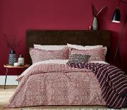 Red Cotton akello Duvet Cover