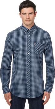 Big And Tall Blue Checked Shirt