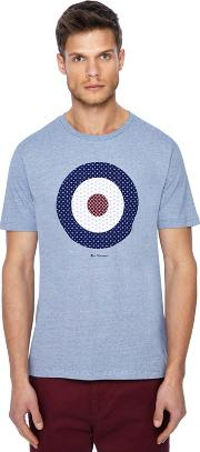 Big And Tall Dark Blue Striped Target Print T Shirt