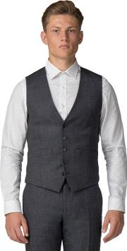 Charcoal Speckle Tailored Fit Waistcoat