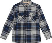 Kids Grey Checked Shirt Jacket