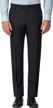 Navy Mulberry Gingham Slim Fit Trouser