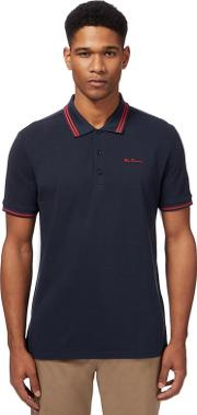 Navy Tipped Polo Shirt