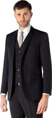 Navy Twill 2 Button Kings Slim Fit Suit Jacket