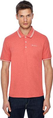 Pink Embroidered Logo Polo Shirt