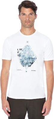 White way Of Life Graphic Print T Shirt