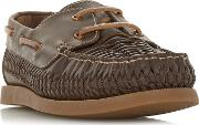 Brown billfish Woven Sporty Sole Boat Shoes
