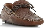 Tan baraboo Woven Driver Loafer Shoes